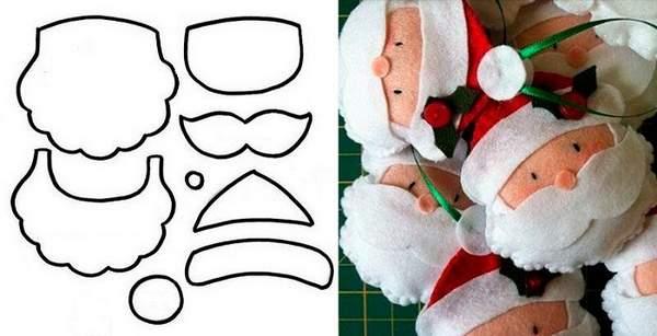 новогодние игрушки из фетра своими руками выкройки, фото 17