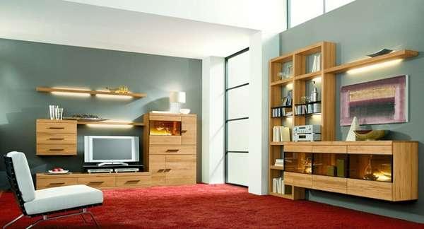 стильная стенка в гостиную в современном стиле, фото 15