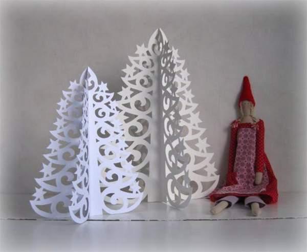 бумажные новогодние игрушки своими руками, фото 8