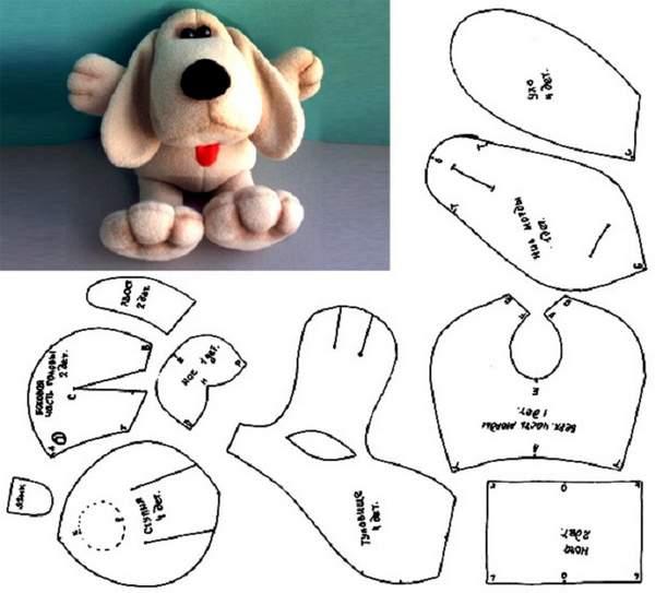 новогодняя игрушка собачка из фетра своими руками, фото 24