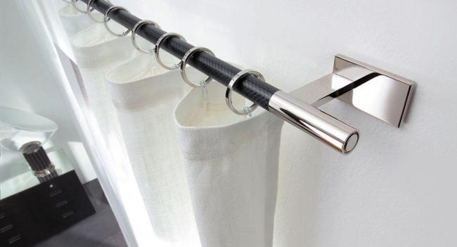 карнизы для штор настенные металлические, фото 18