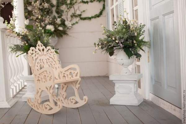 кресло качалка из дерева, фото 9