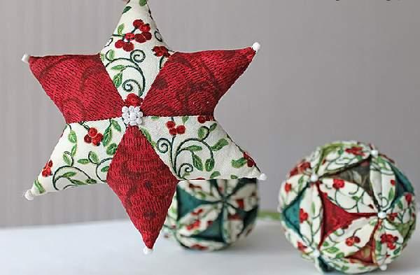 новогодние игрушки из лоскутков своими руками, фото 28