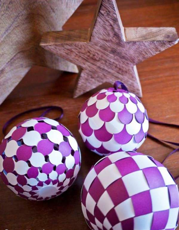 новогодние игрушки из бумаги своими руками гирлянды, фото 9