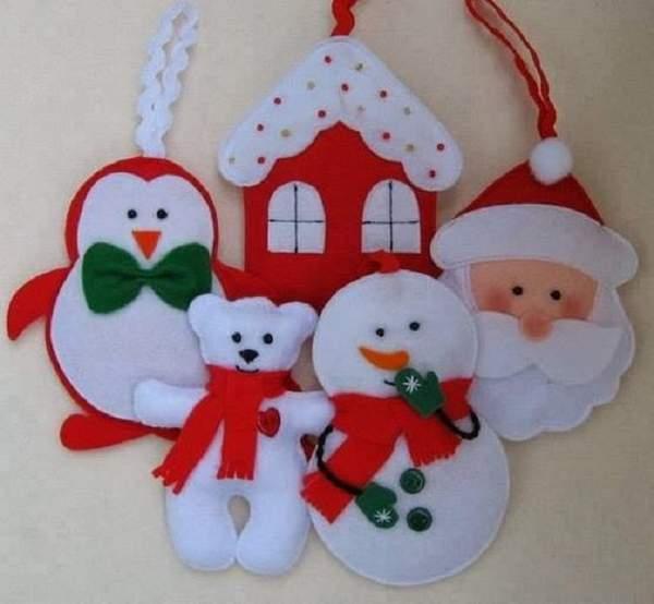 игрушки своими руками из фетра новогодние плоские, фото 20