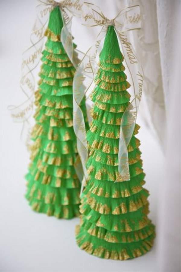 новогодние игрушки из гофрированной бумаги своими руками, фото 23