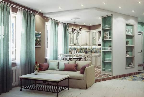 Зонирование кухни гостиной 20 кв м фото, фото 13