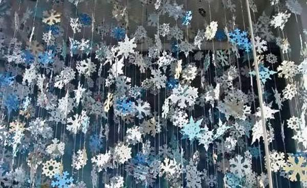новогодние гирлянды и снежинки из бумаги, фото 1