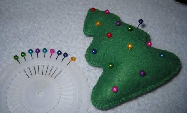 новогодние игрушки из ткани своими руками выкройки, фото 33
