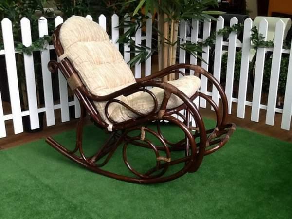 кресло качалка плетеные из ротанга, фото 23