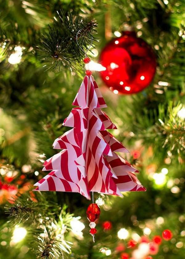 новогодние елочные игрушки из бумаги своими руками, фото 45