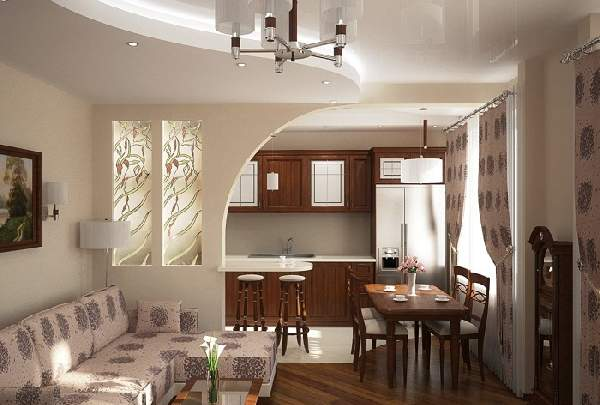 Зонирование кухни гостиной 20 кв м фото, фото 10