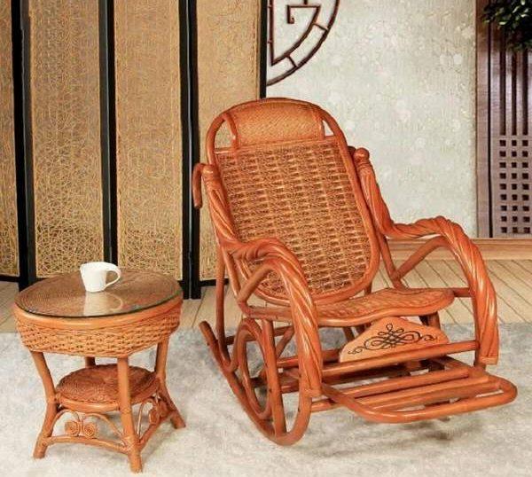 кресло качалка из ротанга, фото 24