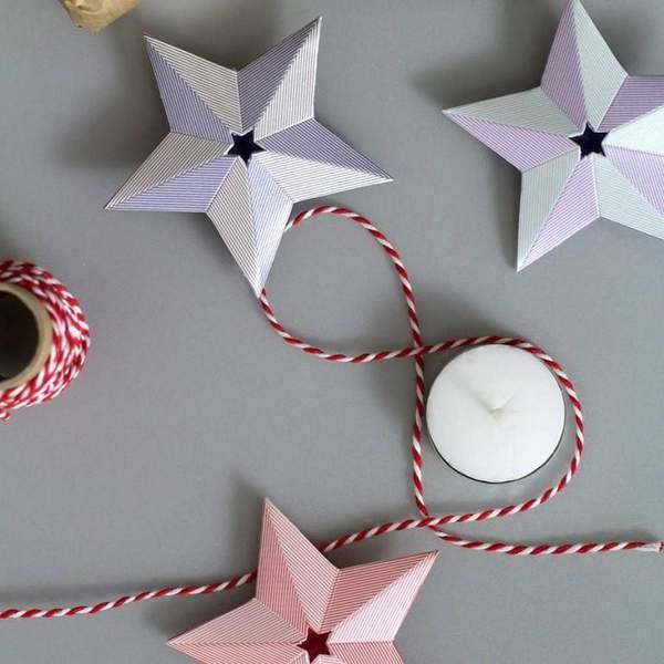 фото новогодние игрушки из бумаги своими руками, фото 46
