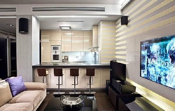 Зонирование кухни гостиной 20 кв м фото, фото 5