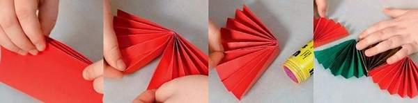 как сделать новогоднюю гирлянду из бумаги видео, фото 5