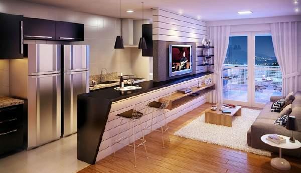 Зонирование кухни гостиной 20 кв м фото, фото 6