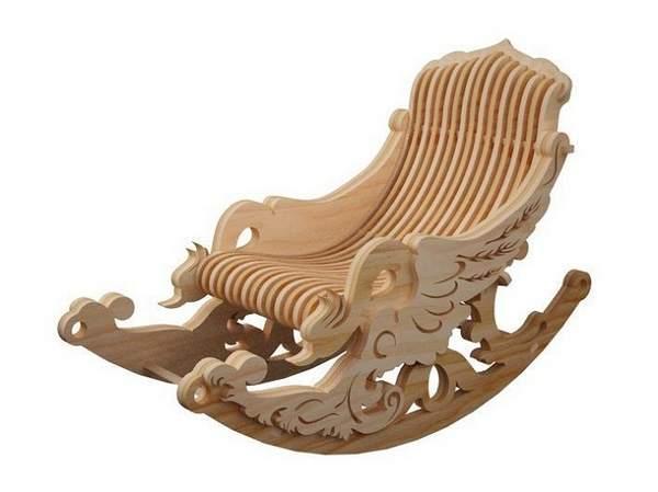 кресло качалка из фанеры, фото 29