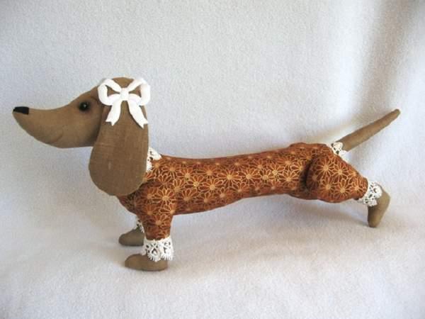 новогодняя игрушка собачка из фетра своими руками, фото 40