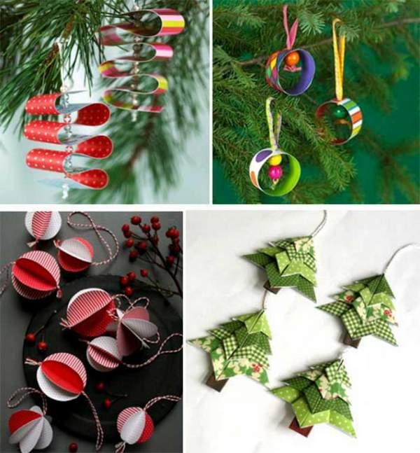 бумажные новогодние игрушки своими руками схемы, фото 48