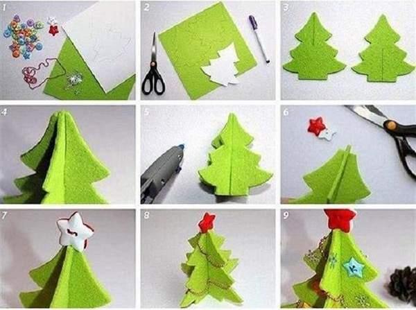 новогодние игрушки из фетра своими руками, фото 21