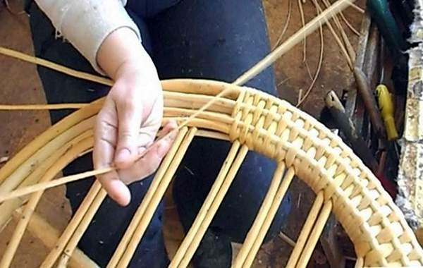 плетеное кресло качалка, фото 25