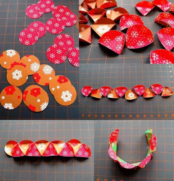 объемные новогодние игрушки из бумаги своими руками, фото 14
