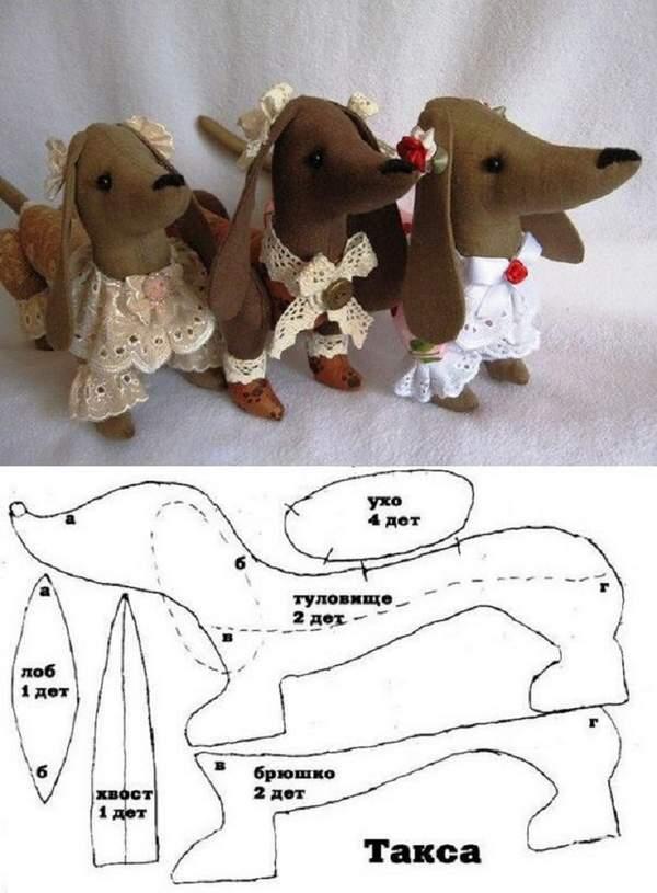 новогодняя игрушка собачка из фетра своими руками, фото 43