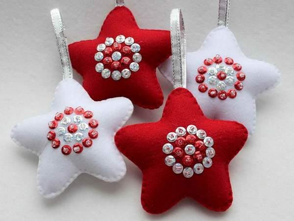 новогодние игрушки из фетра своими руками схемы, фото 7