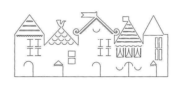 трафареты новогодних гирлянд из бумаги, фото 32