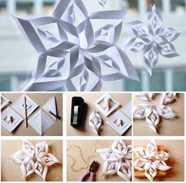 новогодние игрушки своими руками из бумаги схемы, фото 17