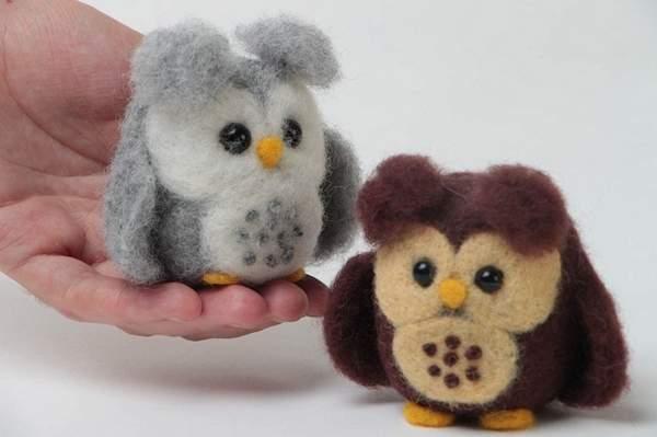 валяные новогодние игрушки своими руками, фото 46