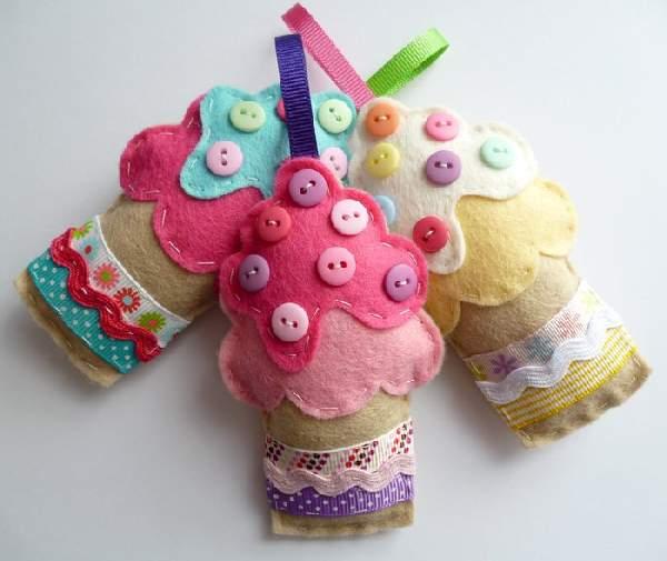 новогодние игрушки из текстиля своими руками, фото 5