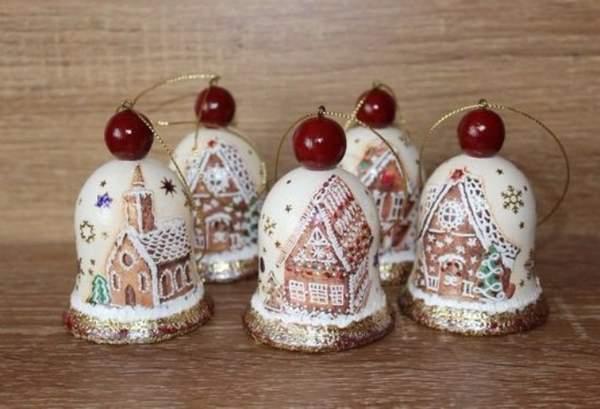 самодельные новогодние игрушки на елку своими руками, фото 31