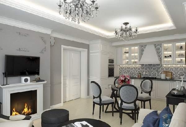 Дизайн интерьера кухни гостиной 20 кв м, фото 31