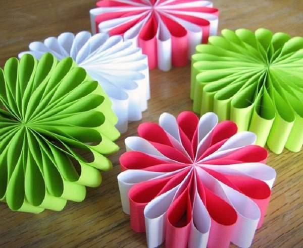 Новогодние игрушки на елку своими руками из бумаги, фото 7