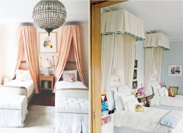 интерьер детской комнаты для двух девочек фото, фото 2
