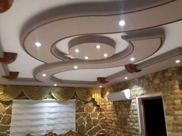 фигурные потолки из гипсокартона фото, фото 24