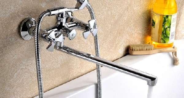 смеситель для ванны с длинным изливом, фото 15