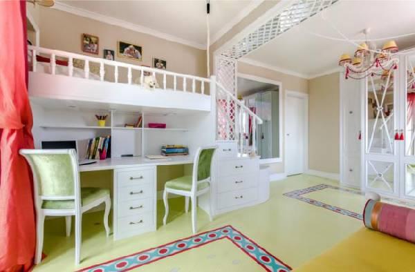 дизайн интерьера детской комнаты для двух девочек, фото 11