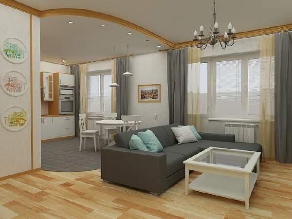 зонирование пространства в однокомнатной квартире: фото, фото 16