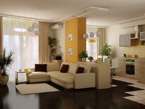 как сделать зонирование в однокомнатной квартире фото, фото 17