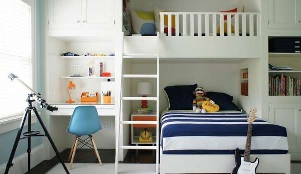 интерьер детской комнаты для мальчиков фото, фото 13