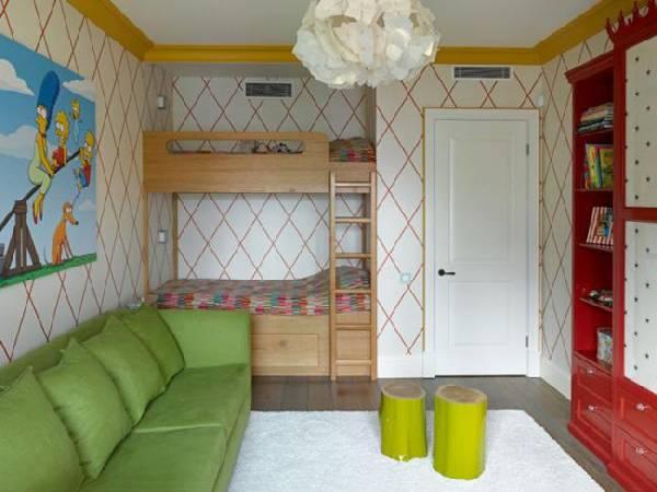 интерьер детской комнаты для двух мальчиков фото, фото 12