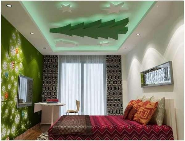 фигурные потолки из гипсокартона фото, фото 28