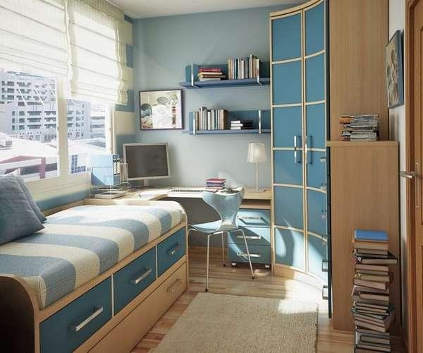 интерьер детской комнаты для мальчика школьника, фото 14