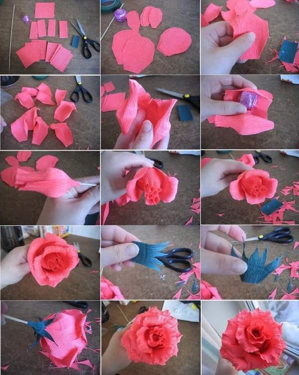Как сделать розы своими руками легко 98