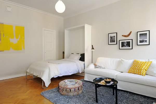как расставить мебель в однокомнатной квартире, фото 14