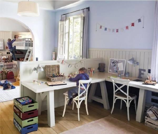 интерьер детской комнаты для двоих детей, фото 15