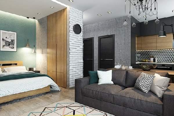 Зонирование однокомнатной квартиры — 62 фото удачных идей